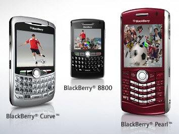 BlackBerry Curve, BlackBerry 8800 y BlackBerry Pearl
