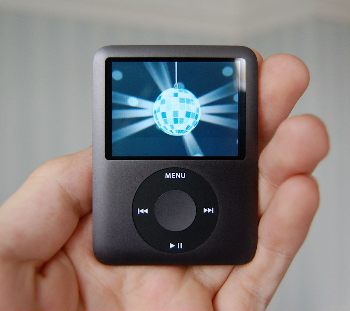Ipod Nano en la mano