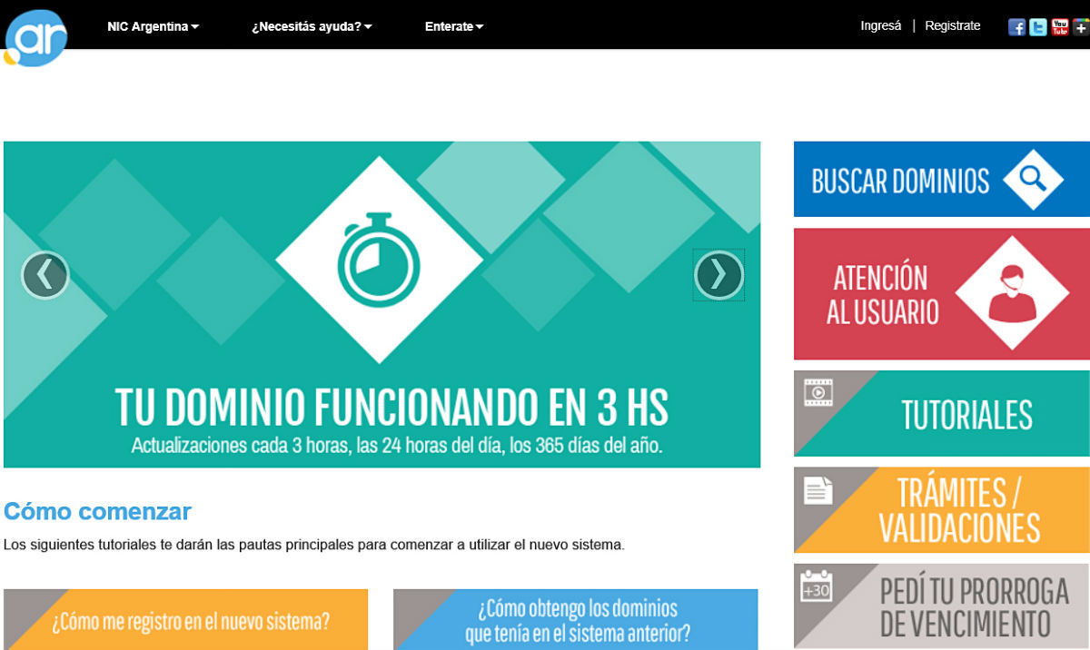 NIC Argentina puso en marcha un nuevo sistema